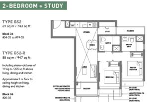 the-m-condo-2-bedroom-plus-study-floor-plan-bs2-singapore